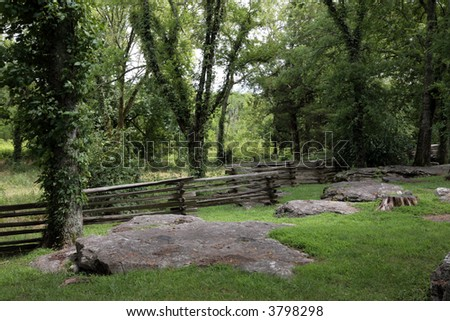 Split rail fence at Mcfaddens Ford last action of the Stones River Battle
