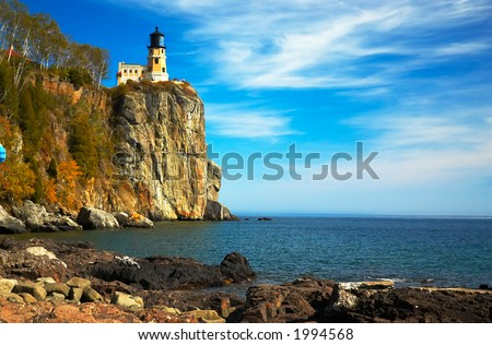 Split Rock Lighthouse on Lake Superior North Shore. More with keyword group15 & Split Rock Lighthouse On Lake Superior Stock Photo 1994568 ... azcodes.com
