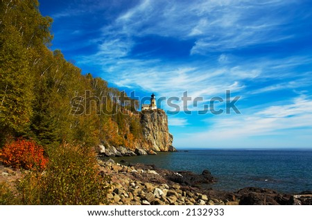 Split Rock Lighthouse on Lake Superior North Shore. More with keyword group15