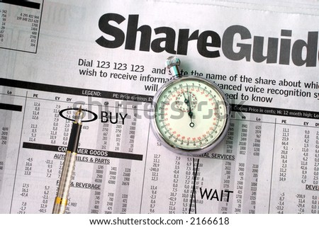 Split second investment timing - stock photo