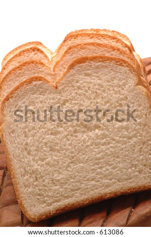 split top white bread slices