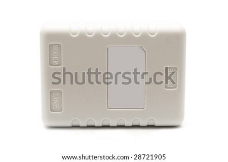 Splitter on white background