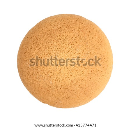 Sponge biscuits. Isolated on a white background.