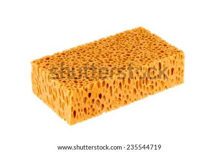 Sponge for washing car - stock photo