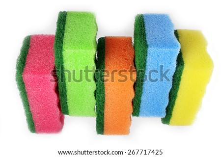 sponge isolated - stock photo