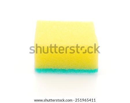 sponge isolated on a white background - stock photo