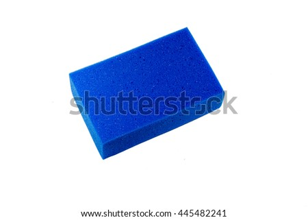 Sponge  on white background