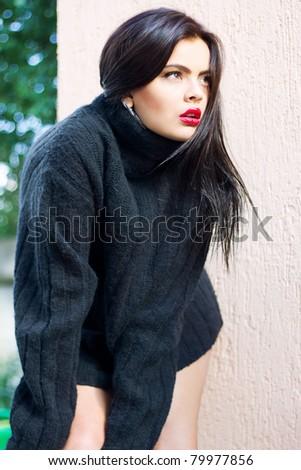 Spontaneous fashion - stock photo