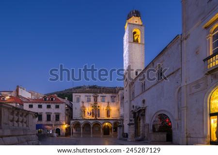 Sponza Palace - histiric archive, Dubrovnik, Croatia. - stock photo