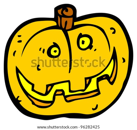 spooky pumpkin cartoon
