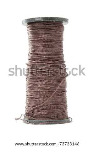Spool of Capron Thread Isolated on White Background - stock photo