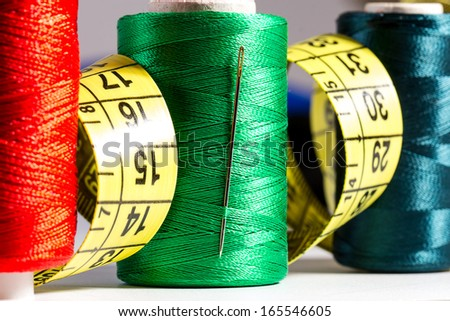Spool of thread and sewing accessories