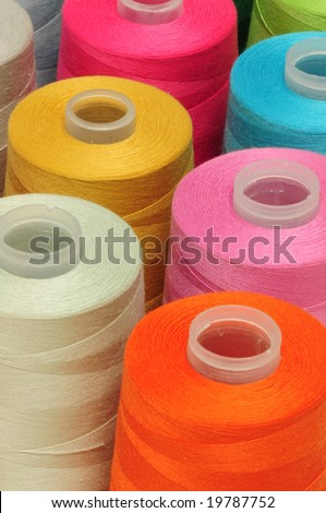 Spool of threads - stock photo