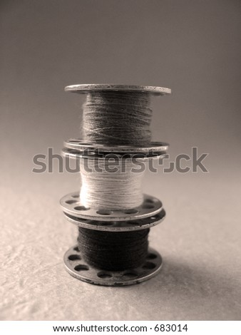 spool piled up - stock photo