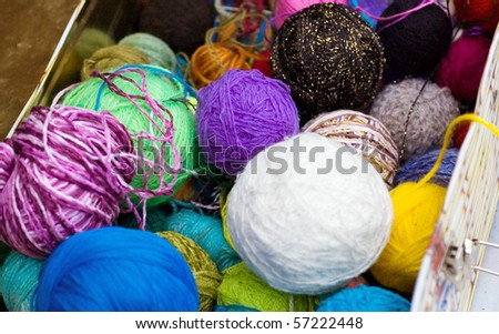 spools of many colors - stock photo