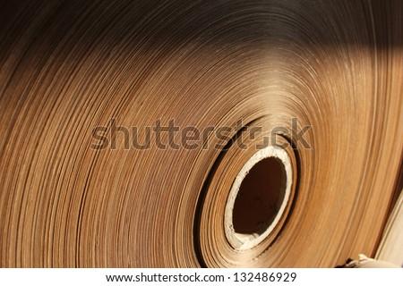 Spools of paper - stock photo