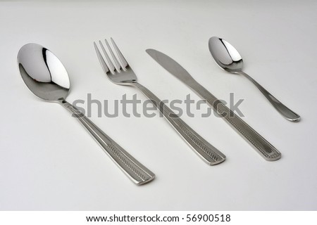 Spoon and folk isolated