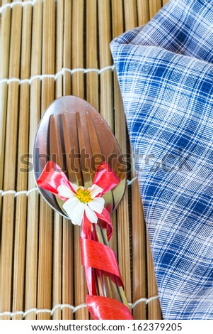 Spoon and fork - stock photo