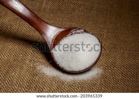 Spoon full of sugar - stock photo