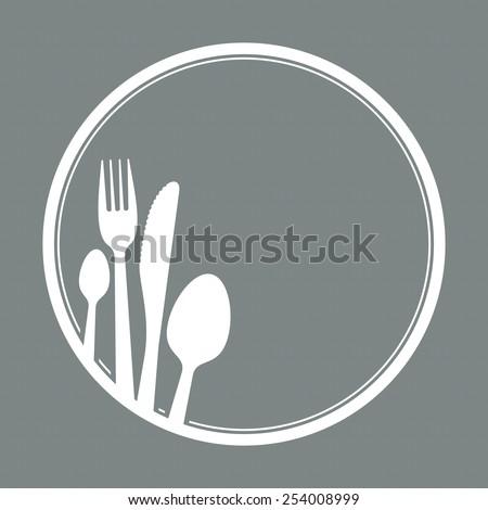 spoon, knife and fork as symbol for gastronomy