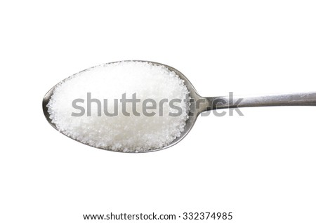 Spoon of fine granulated sugar