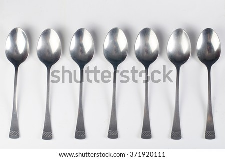 spoon on a white background