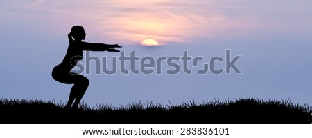 Sport and healthy life in nature - stock photo