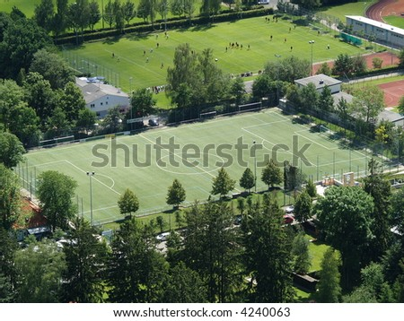 sport area, sport court - stock photo