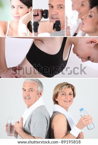 Sport at any age - stock photo