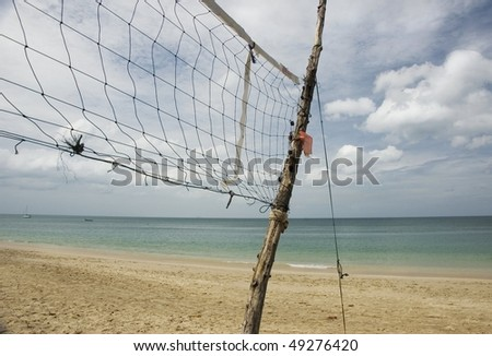sport at the beach - stock photo