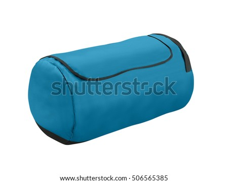 Sport blue bag. Isolated on white.