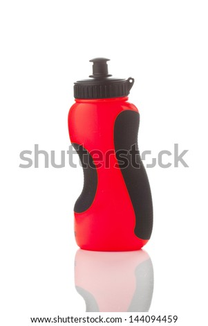 Sport bottle. A bottle of water and protein shakes after sport - stock photo