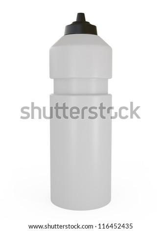 Sport Bottle of Water - 3d illustration - stock photo