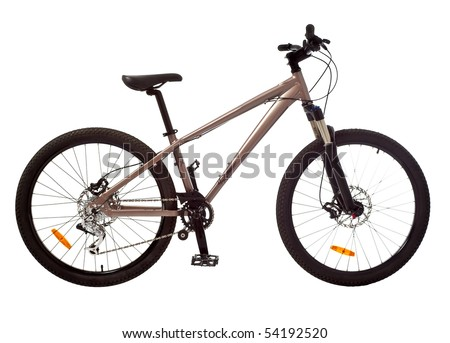 sport brown bicycle isolated - stock photo