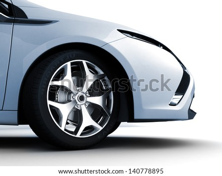 Sport car isolated on a white background - stock photo