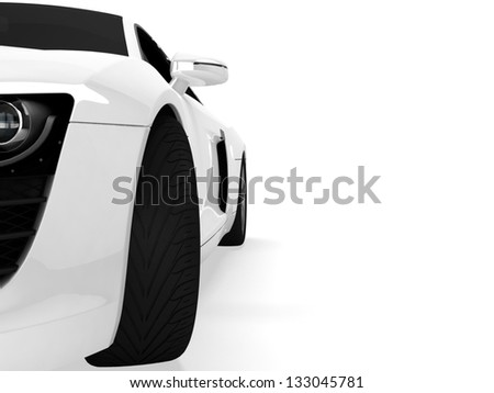 Sport car isolated on white