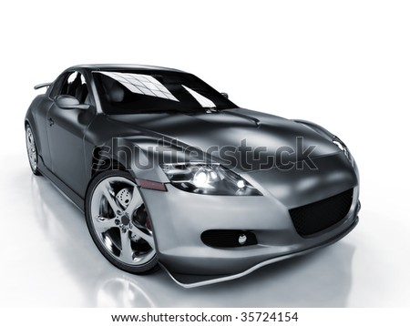 Sport car isolated on white background - stock photo