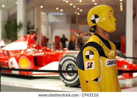 sport car on Motor show - stock photo