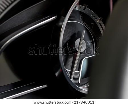 sport car's dashboard - stock photo