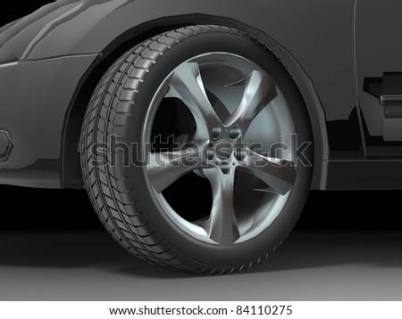 Sport Car Wheel - stock photo