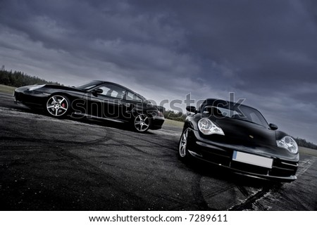 sport cars - stock photo