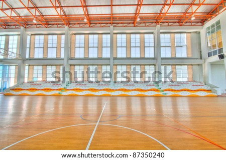 Sport complex in university Thailand,school gym indoor. - stock photo