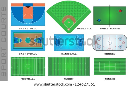 Sport courts, - stock photo