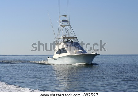 Sport Fishing Boat - stock photo