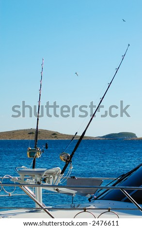 Sport Fishing Boat for big game fishing - stock photo