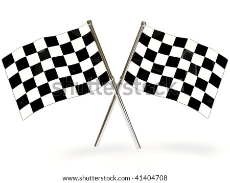 sport flags on white background