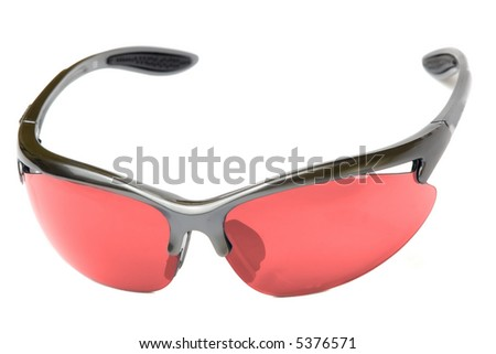 Sport glasses isolated on white - stock photo