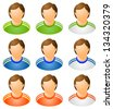 Sport human icons set. Varicoloured. Raster version, vector file also included in the portfolio. - stock photo