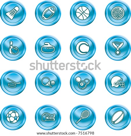 sport icons series of icons or design elements relating to sports. Raster version. - stock photo