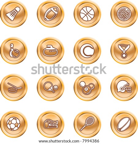 sport icons series of icons or design elements relating to sports. Raster version - stock photo